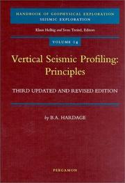 Vertical seismic profiling by Bob Adrian Hardage