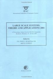 Cover of: Large Scale Systems | F.G. Filip, I. Dumitrache, S. Iliescu