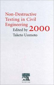Cover of: Non-Destructive Testing in Civil Engineering 2000 | T. Uomoto