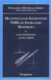 Cover of: MULTINUCLEAR SOLID-STATE NMR OF INORGANIC MATERIALS by KENNETH J. D. MACKENZIE