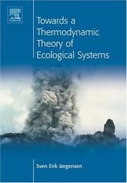 Cover of: Towards a thermodynamic theory for ecological systems