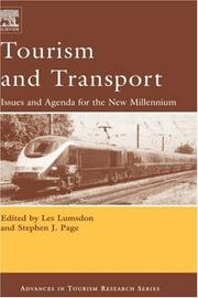 Cover of: Tourism and Transport |