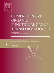 Cover of: Comprehensive Organic Functional Group Transformations II, Volume 1 - 7, Second Edition |