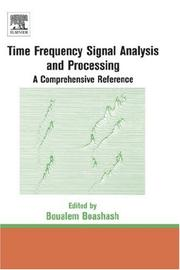 Cover of: Time Frequency Analysis | Boualem Boashash