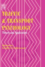 Cover of: Traffic and Transport Psychology