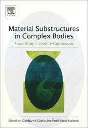Cover of: Material substructures in complex bodies |