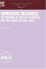 Cover of: Numerous meanings | Bert Bultinck