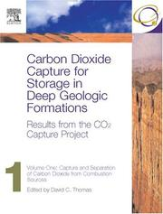 Cover of: Carbon Dioxide Capture for Storage in Deep Geologic Formations - Results from the CO² Capture Project |