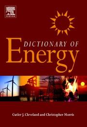 Cover of: Dictionary of Energy |