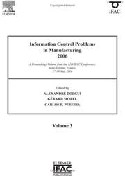 Cover of: Information Control Problems in Manufacturing 2006 |