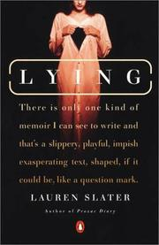 Cover of: Lying | Lauren Slater