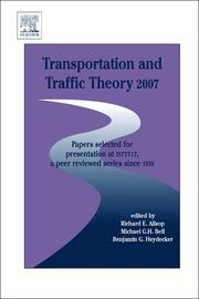 Cover of: Transportation and Traffic Theory 2007 |