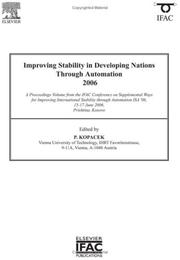 Cover of: Improving Stability in Developing Nations through Automation 2006 (IPV - IFAC Proceedings Volume) (IPV - IFAC Proceedings Volume)