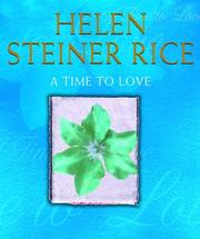 Cover of: A time to love