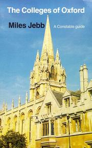 Cover of: colleges of Oxford | Miles Jebb