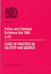 Cover of: Police and Criminal Evidence Act 1984 (s. 66) |