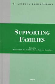 Cover of: Supporting Families (Children in Society Series) |