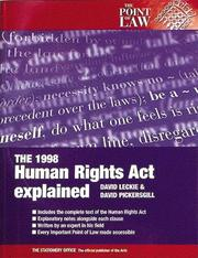 Cover of: 1998 Human Rights Act explained | David Leckie