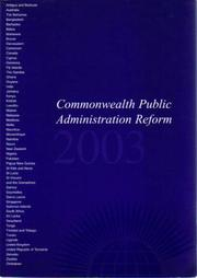 Cover of: Commonwealth Public Administration Reform 2004 | Commonwealth Secretariat.