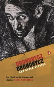 Cover of: Drohobycz, Drohobycz and other stories