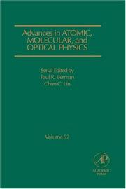 Cover of: Advances in atomic, molecular, and optical physics by