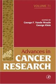 Cover of: Advances in cancer research by