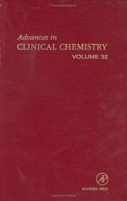 Advances in Clinical Chemistry by Herbert E. Spiegel
