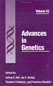 Cover of: Advances in genetics |