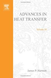 Cover of: Advances in heat transfer |