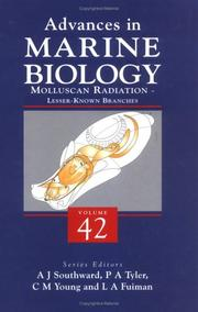 Cover of: Molluscan Radiation - Lesser Known Branches (Advances in Marine Biology, Volume 42) (Advances in Marine Biology) |