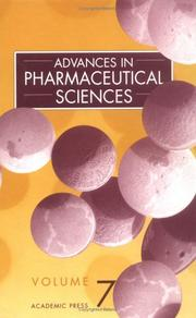 Cover of: Advances in Pharmaceutical Sciences |
