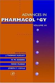 Cover of: Advances in Pharmacology, Volume 44 (Advances in Pharmacology) |