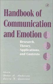 Cover of: Handbook of communication and emotion |