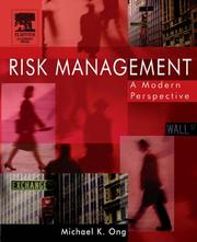 Cover of: Risk Management, Volume 1 | Michael Ong