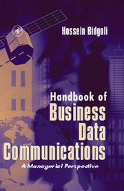 Cover of: Handbook of Business Data Communications | Hossein Bidgoli