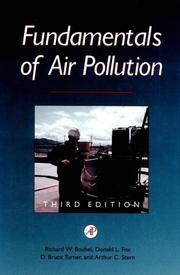 Cover of: Fundamentals of air pollution