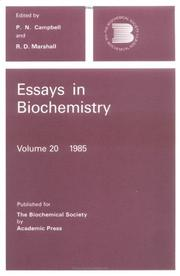 Cover of: Essays In Biochemistry |