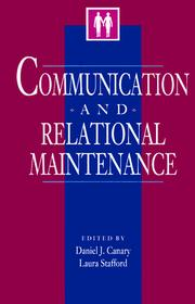 Cover of: Communication and Relational Maintenance