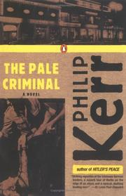 Cover of: The pale criminal