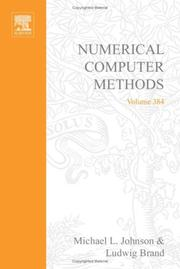 Cover of: Numerical Computer Methods, Part E, Volume 384 (Methods in Enzymology) |
