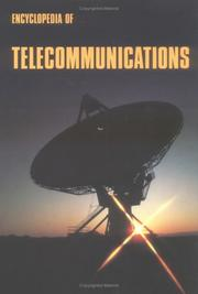 Cover of: Encyclopedia of telecommunications |