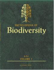 Cover of: Encyclopedia of Biodiversity, Five-Volume Set | Simon A. Levin