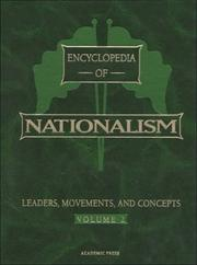 Cover of: Encyclopedia of nationalism |