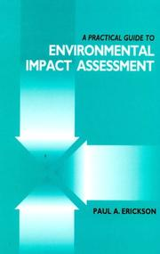 Cover of: A practical guide to environmental impact assessment | Erickson, Paul A.