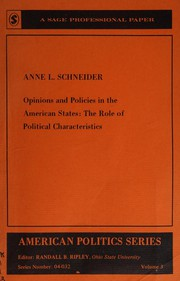Cover of: Opinions and policies in the American States by Anne L. Schneider