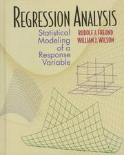 Regression analysis by Rudolf Jakob Freund