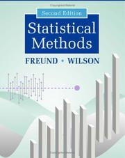Cover of: Statistical methods | Rudolf Jakob Freund