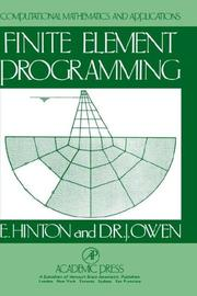 Cover of: Finite Element Programming (Computational Mathematics & Application Series) | Leanne Hinton