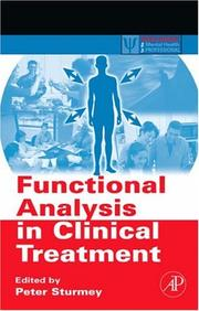 Cover of: Functional Analysis in Clinical Treatment | Peter Sturmey