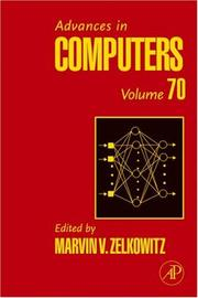 Cover of: Advances in Computers, Volume 70 (Advances in Computers) (Advances in Computers) | Marvin Zelkowitz
